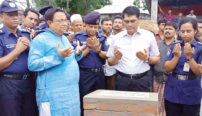 Laying the foundation stone of Tegachhaia Police Complex