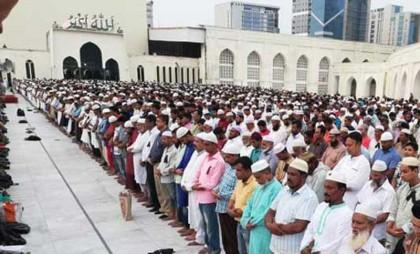 HM Ershad's 3rd janaza held at Baitul Mukarram Mosque premises in city