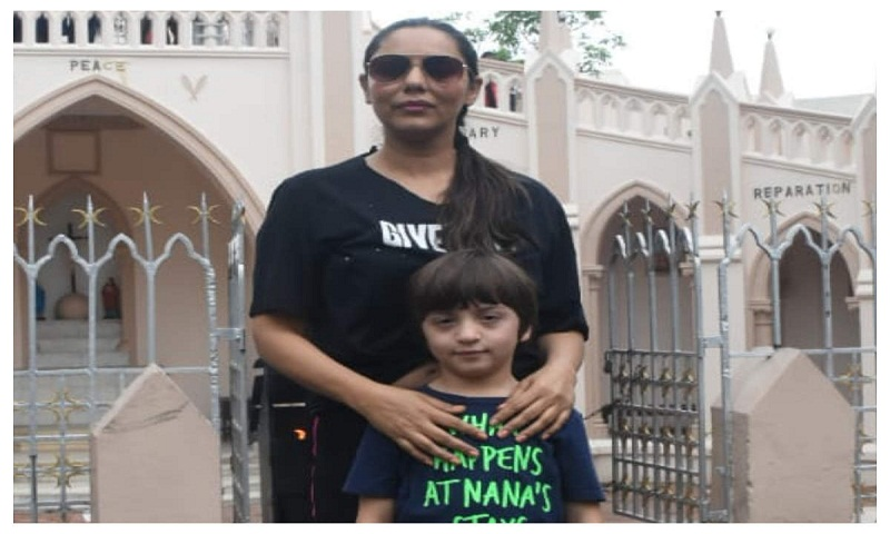 Gauri Khan takes son AbRam to church, poses with him after Sunday mass