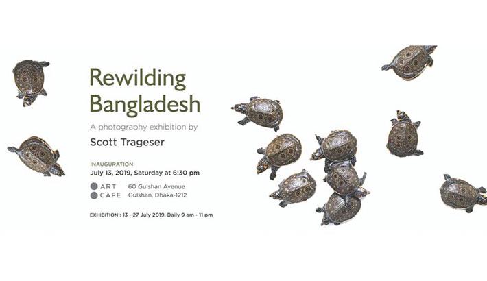 Trageser's solo exhibition Rewilding Bangladesh at Art Café
