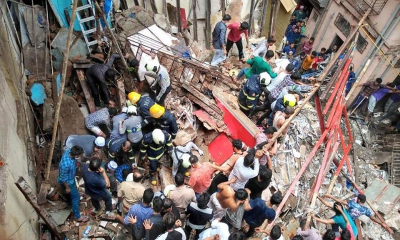 Four-storey building collapses in Mumbai's Dongri, 50 feared trapped