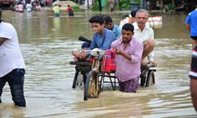 Monsoon floods displace millions in India