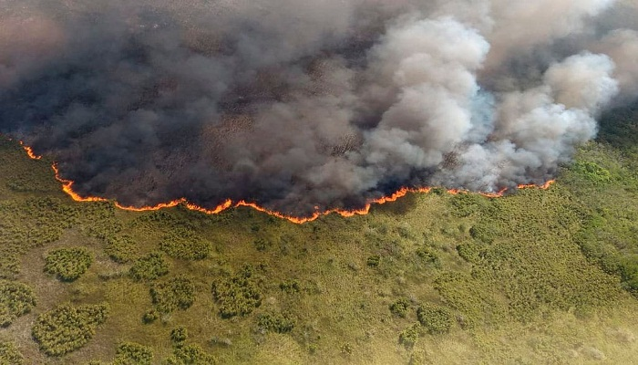 Fire rages through reserve in Mexico's resort-filled Yucatan