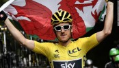 Thomas blowing in the wind at Tour de France