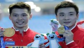 Chinese diver Chen wins 3rd world title in 10-meter synchro