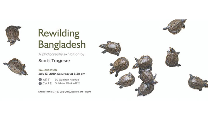 Trageser's solo exhibition Rewilding Bangladesh at Art Café