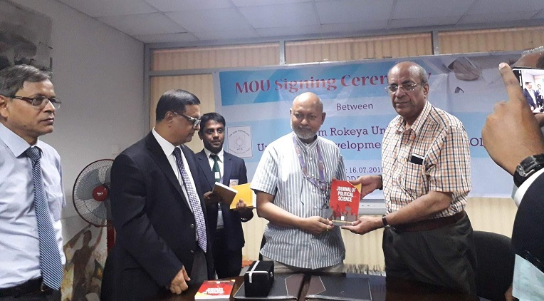 Begum Rokeya University Rangpur  signs MoU with UODA