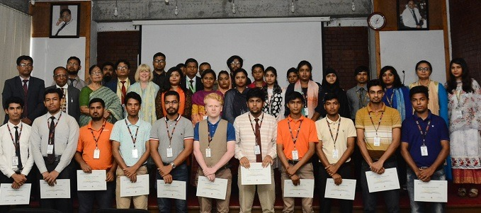 IUBAT organises certificate awarding ceremony on book reading competition