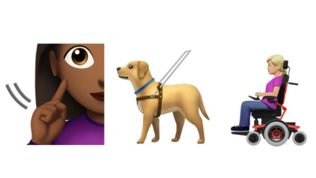 Disability emojis: Guide dog and wheelchair user revealed
