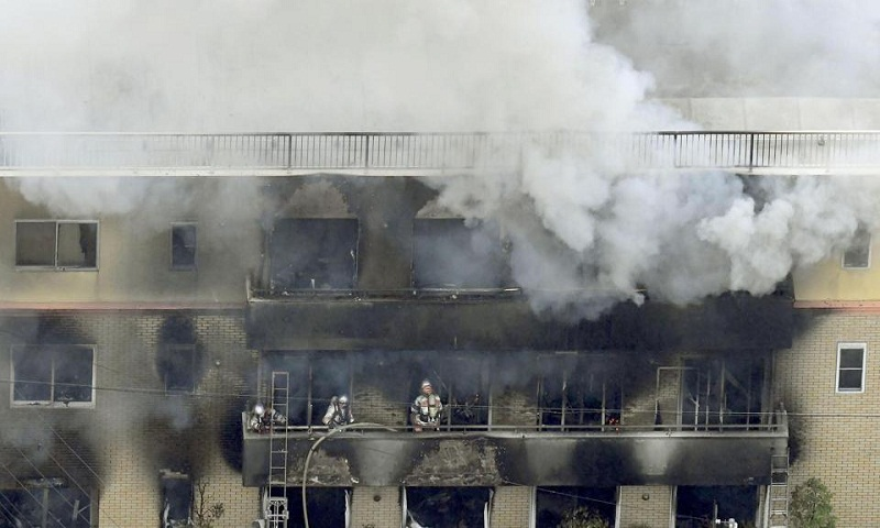 Kyoto Animation fire: Twelve dead after suspected arson attack
