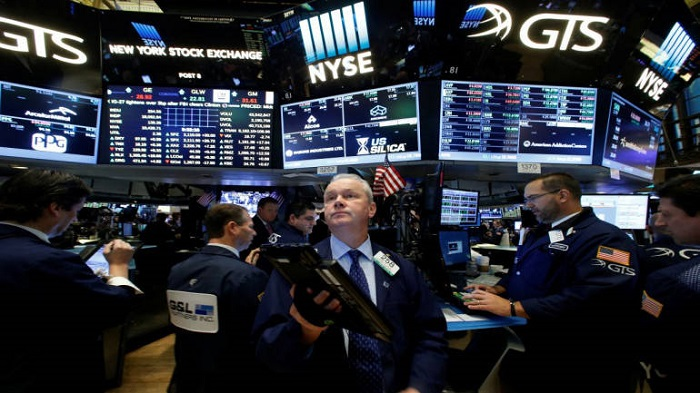 US stocks fall as industrial shares tumble
