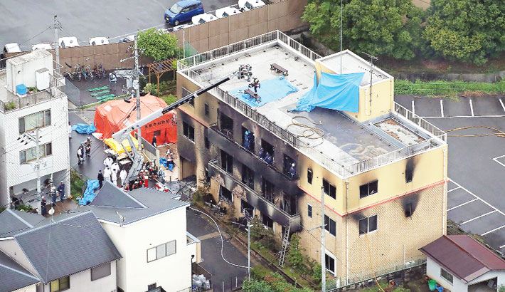 33 killed in 'arson attack' on Japan animation studio