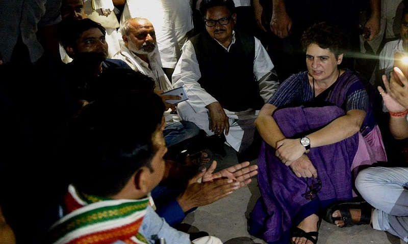 Priyanka Gandhi still under detention in Uttar Pradesh