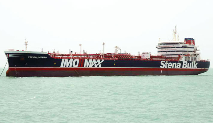 Iran claims British tanker seized after collision