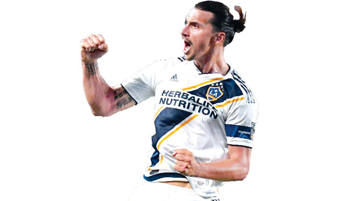 Zlatan nets hat trick over LAFC