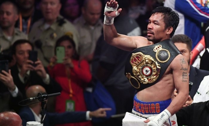 Brilliant Pacquiao downs Thurman to capture WBA crown
