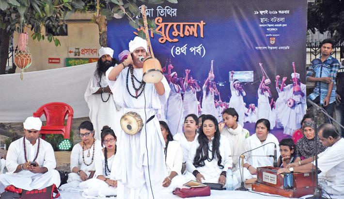 Sadhu Sangha held at Shilpakala remembering Lalon Shah