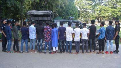 RAB detains 14 'teen-gang' members in Uttara