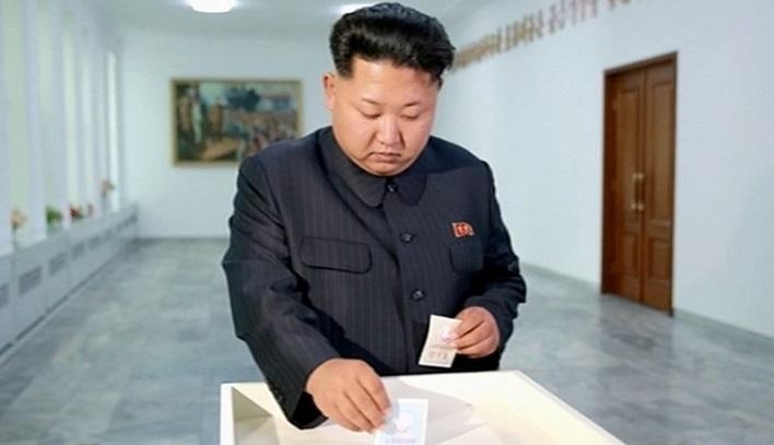 Almost 100 per cent votes cast in North Korea, Kim also votes