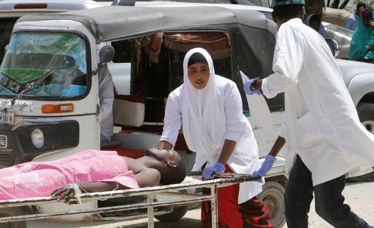 Car bomb blasts Somalia's capital near airport; 10 killed