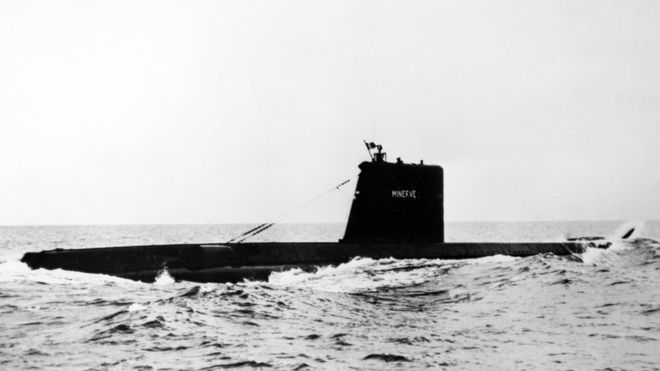 French Minerve submarine found after disappearing in 1968