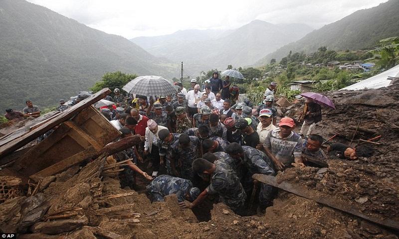 Mudslide in remote Nepal mountain village kills 8, 2 missing