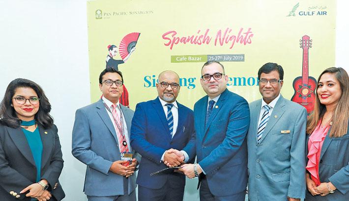 Hotel Sonargaon,  Gulf Air organises  Spanish nights