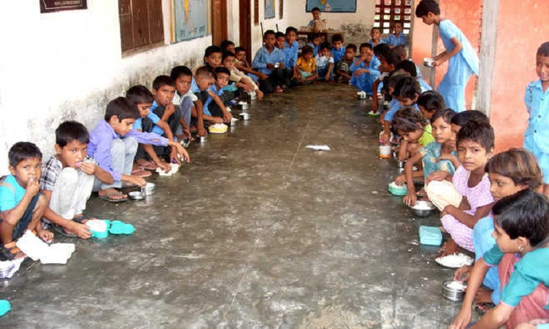 Toilet in India serves as midday meal kitchen