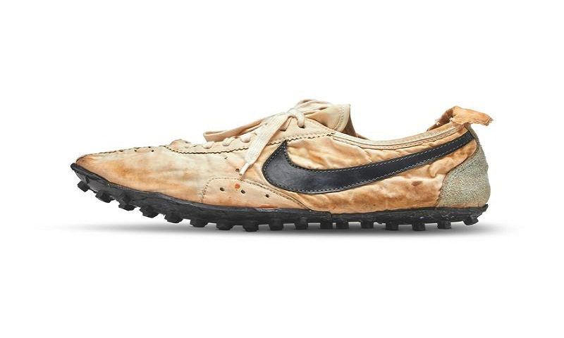Nike's rare sneakers 'Moon Shoes' sell for record $437,500