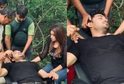 Actor Bappy injured during the shoot of 'Danger Zone' (Video)