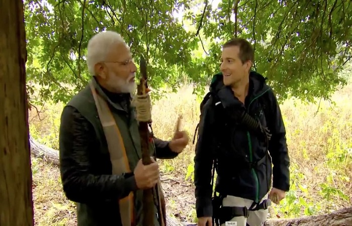 Modi has gone on safari with Bear Grylls (Video)