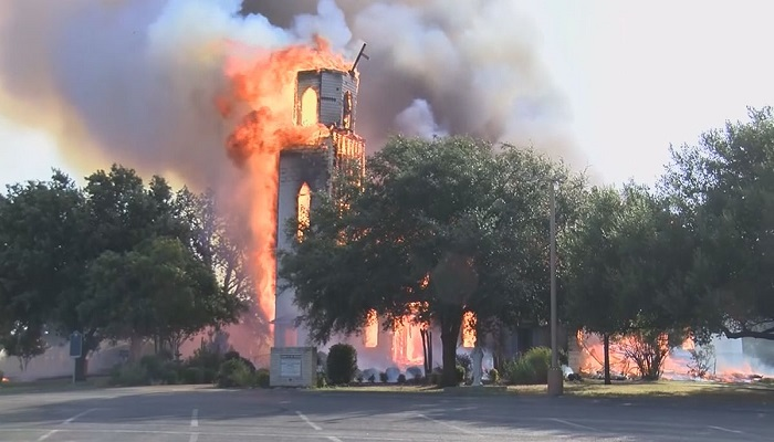 Historic 124-year-old Central Texas church burns to ground