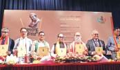 Launching ceremony of a book titled 'Bangabandhu Corner and Nondito Udvabon'