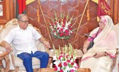 Vice-Chancellor of Chattogram University Prof Dr. Shireen Akhter calls on President M Abdul Hamid