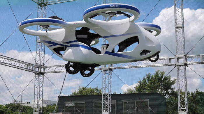 Japan's NEC successfully made the first test flight of 'flying car'
