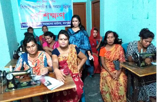 Sewing training for transgender in Joypurhat
