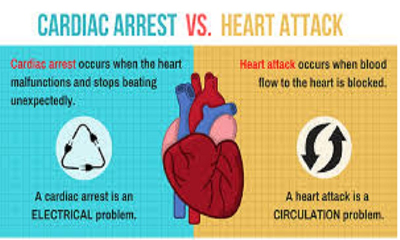 Know what is cardiac arrest and how is it different from heart attack