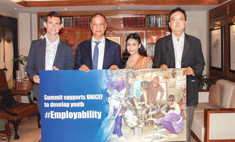 Summit supports UNICEF to develop youth employability