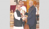 Pranab receives  Bharat Ratna