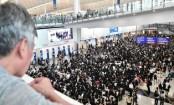 Hong Kong protests: Demonstrators gather at the airport