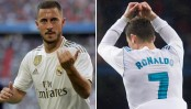 Hazard inherits Cristiano Ronaldo's iconic number seven shirt at Real Madrid