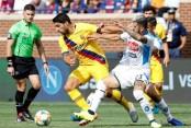 Suarez's brace, Griezmann goal power Barca over Napoli