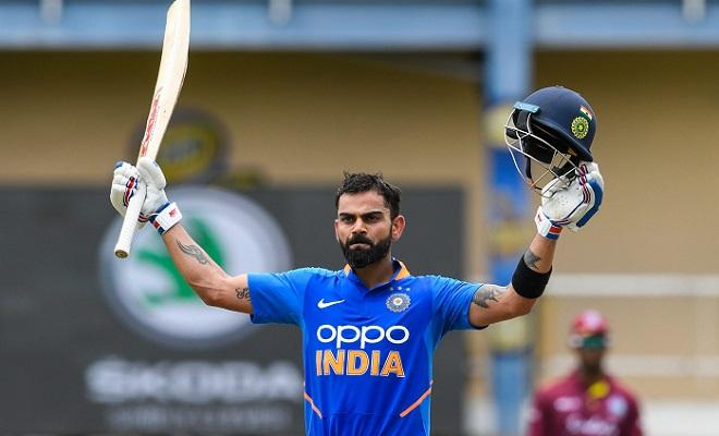 Kohli ton helps India set Windies 280 to win 2nd ODI