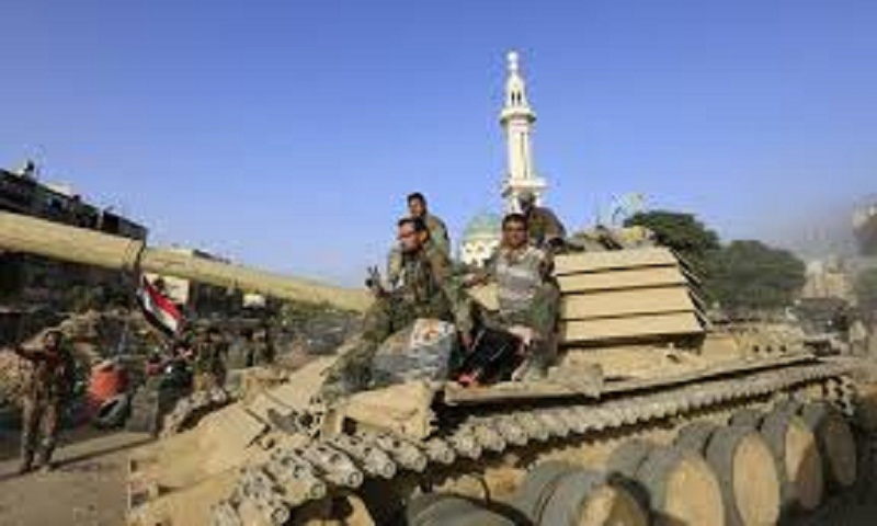 Syrian troops push closer to major rebel-held northwest town