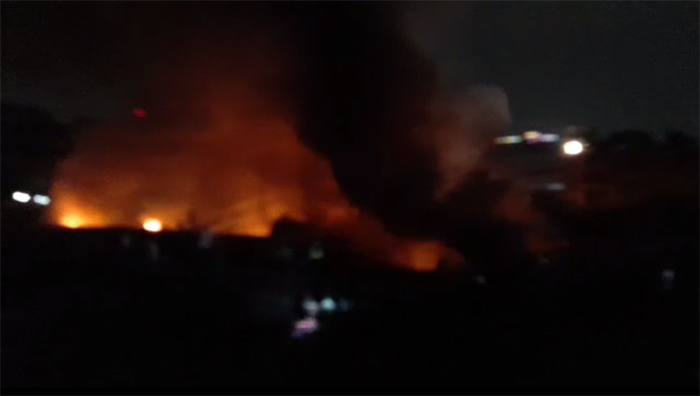 Fire breaks out in a plastic factory in city's Lalbagh area
