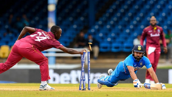 Gayle stars as Windies set India daunting target in 3rd ODI