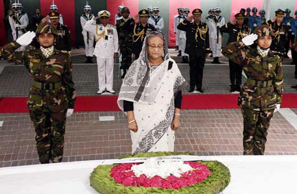 PM pays tributes to Bangabandhu at Tungipara