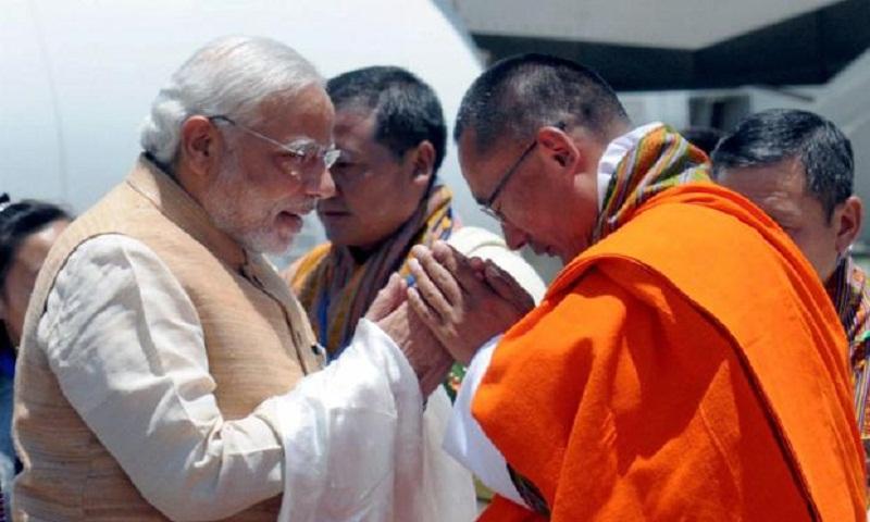 Indian PM Modi arrives in Bhutan, receives Guard of Honour
