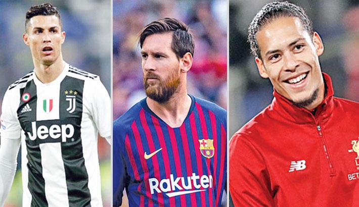 Ronaldo, Messi, Van Dijk shortlisted for UEFA awards