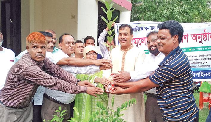 Inauguration a tree plantation campaign